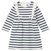 Textiel Meisjes Korte jurken Petit Bateau LEVRIER Wit / Marine