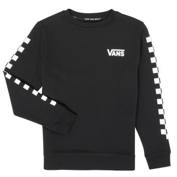 Textiel Jongens Sweaters / Sweatshirts Vans EXPOSITION CHECK CREW Zwart