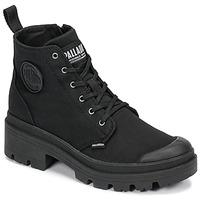 Schoenen Dames Laarzen Palladium PALLABASE TWILL Zwart