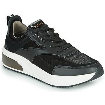 Schoenen Dames Lage sneakers Replay FLOW CREATION Zwart