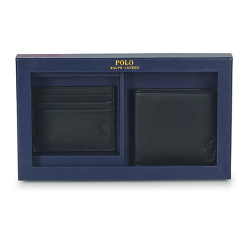 Tassen Heren Portefeuilles Polo Ralph Lauren Billfold & CardCase Gift Set Zwart
