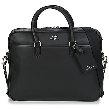 Tassen Heren Aktentassen / Zakentassen Polo Ralph Lauren COMMUTER-BUSINESS CASE-SMOOTH LEATHER Zwart