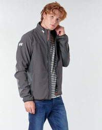 Textiel Heren Wind jackets Helly Hansen CREW SOFTSHELL JACKET Grijs
