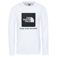 Textiel Jongens T-shirts met lange mouwen The North Face NEW BOX LOGO TEE Wit