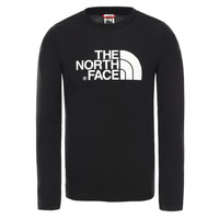 Textiel Jongens T-shirts met lange mouwen The North Face EASY TEE LS Zwart