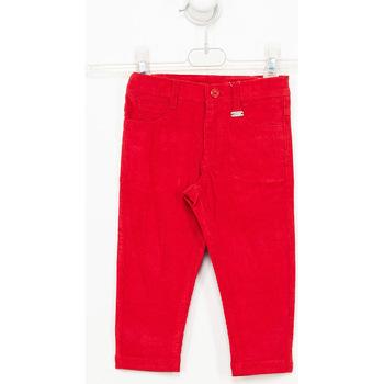 Textiel Jongens Broeken / Pantalons Tutto Piccolo Pantalon en velours côtelé Rood