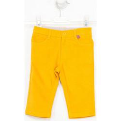 Textiel Jongens Broeken / Pantalons Tutto Piccolo Pantalon en daim Geel