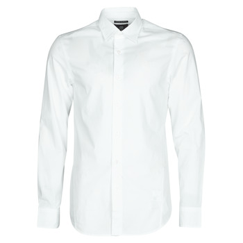 Textiel Heren Overhemden lange mouwen G-Star Raw DRESSED SUPER SLIM SHIRT LS Wit