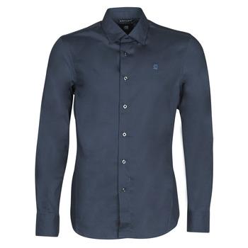 Textiel Heren Overhemden lange mouwen G-Star Raw DRESSED SUPER SLIM SHIRT LS Mazarine / Blauw
