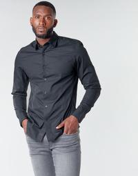 Textiel Heren Overhemden lange mouwen G-Star Raw DRESSED SUPER SLIM SHIRT LS Zwart