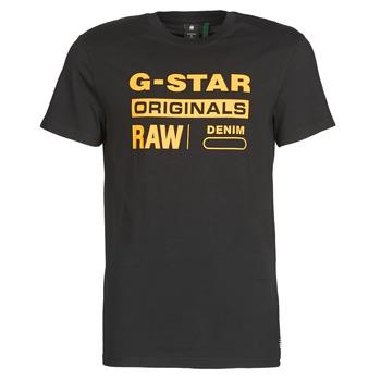 Textiel Heren T-shirts korte mouwen G-Star Raw COMPACT JERSEY O Zwart