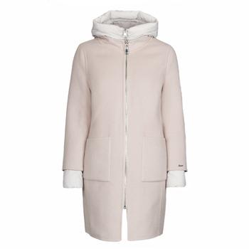 Textiel Dames Mantel jassen Oakwood LILIANA BI Ivory / Grijs