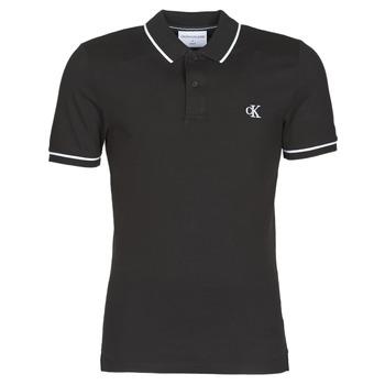 Textiel Heren Polo's korte mouwen Calvin Klein Jeans TIPPING SLIM POLO Zwart