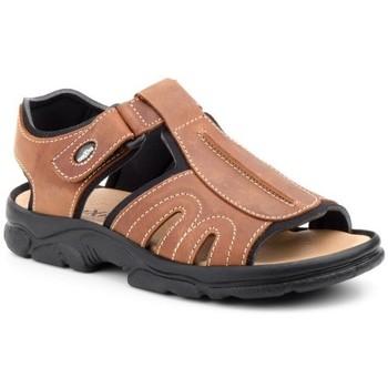 Schoenen Heren Sandalen / Open schoenen Morxiva Shoes Sandalias de hombre de piel by Morxiva Marron