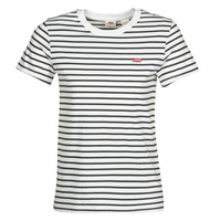 Textiel Dames T-shirts korte mouwen Levi's PERFECT TEE Wolk / Dancer