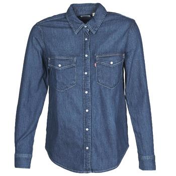 Textiel Dames Overhemden Levi's ESSENTIAL WESTERN Blauw