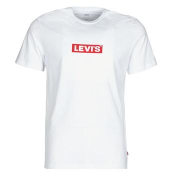 Textiel Heren T-shirts korte mouwen Levi's BOXTAB GRAPHIC TEE Wit