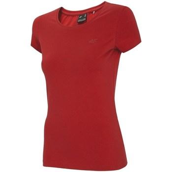 Textiel Dames T-shirts korte mouwen 4F TSD001 Rouge