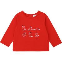 Textiel Meisjes T-shirts met lange mouwen Carrément Beau Y95252 Rood