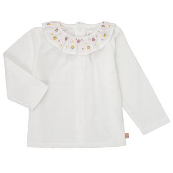 Textiel Meisjes T-shirts met lange mouwen Carrément Beau Y95244 Wit
