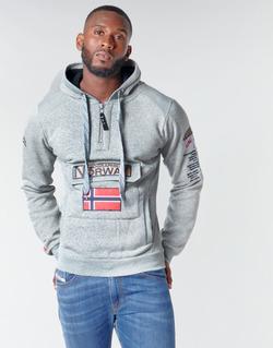 Textiel Heren Sweaters / Sweatshirts Geographical Norway GYMCLASS Grijs / Bont