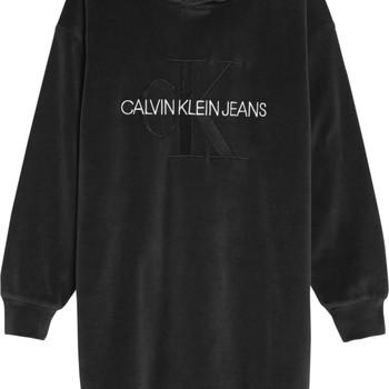 Textiel Meisjes Korte jurken Calvin Klein Jeans IG0IG00711-BEH Zwart