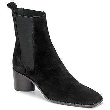 Schoenen Dames Enkellaarzen Jonak BERGAMOTE Zwart