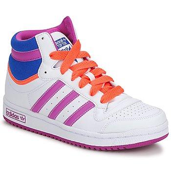 Schoenen Meisjes Hoge sneakers adidas Originals TOPTEN HI K Wit / Roze / Blauw