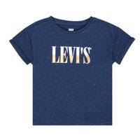 Textiel Meisjes T-shirts korte mouwen Levi's DROP SHOULDER TEE Blauw
