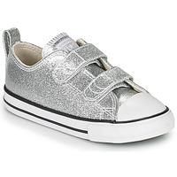 Schoenen Meisjes Lage sneakers Converse CHUCK TAYLOR ALL STAR 2V - OX Zilver