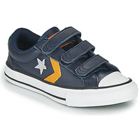 Schoenen Jongens Lage sneakers Converse STAR PLAYER 3V - LEATHER TWIST Blauw / Mosterd