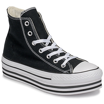 Schoenen Dames Hoge sneakers Converse CHUCK TAYLOR ALL STAR PLATFORM EVA LAYER CANVAS HI Zwart