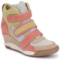 Schoenen Dames Hoge sneakers Ash ALEX Corail / Geel / Taupe