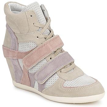 Schoenen Dames Hoge sneakers Ash BIXI Roze / Violet / Grijs