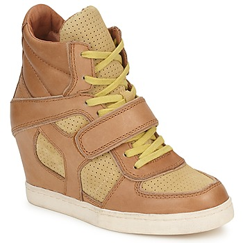 Schoenen Dames Hoge sneakers Ash COCA Brown / Geel