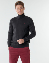 Textiel Heren Truien U.S Polo Assn. JON HIGH COLLAR KNIT Zwart