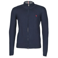 Textiel Heren Vesten / Cardigans U.S Polo Assn. INSTITUTIONAL ZIP KNIT Blauw