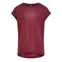 Textiel Meisjes T-shirts korte mouwen Only KONSILVERY Bordeaux