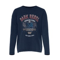 Textiel Meisjes T-shirts korte mouwen Only KONLUCY LIFE Marine
