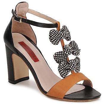 Schoenen Dames Sandalen / Open schoenen MySuelly NOE Zwart / Brown