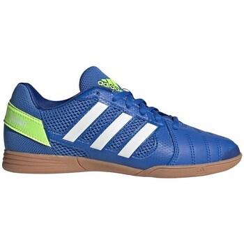 Schoenen Kinderen Voetbal adidas Originals Top Sala Blanc, Bleu, Jaune