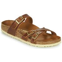Schoenen Dames Leren slippers Birkenstock FRANCA Brown