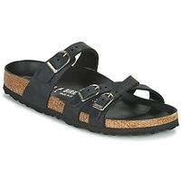 Schoenen Dames Leren slippers Birkenstock FRANCA Zwart