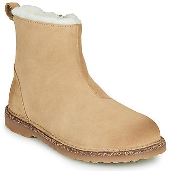 Schoenen Dames Laarzen Birkenstock MELROSE SHEARLING Beige