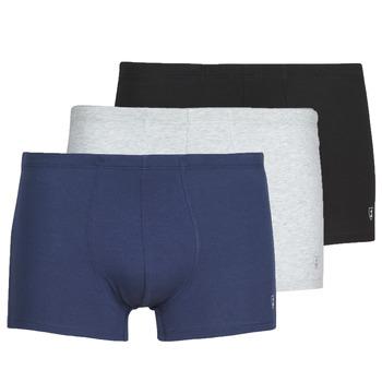 Ondergoed Heren Boxershorts Mariner PACK COTON BIO Zwart / Marine / Grijs