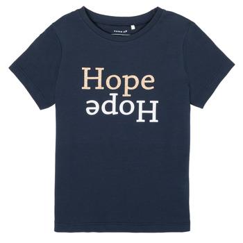 Textiel Meisjes T-shirts korte mouwen Name it NKFFRANSESKA Marine