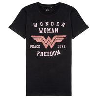 Textiel Meisjes T-shirts korte mouwen Name it NKFWONDERWOMEN Zwart