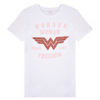 Textiel Meisjes T-shirts korte mouwen Name it NKFWONDERWOMEN Wit