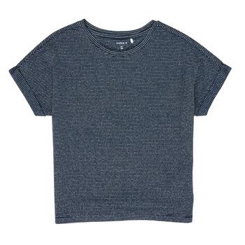 Textiel Meisjes T-shirts korte mouwen Name it NKFKYRRA Marine