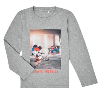 Textiel Jongens T-shirts met lange mouwen Name it NMMMICKEY EMIL Grijs
